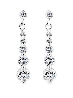 simply-silver-silver-cubic-zirconia-graduated-drop-earrings