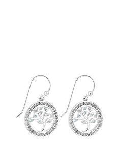 simply-silver-swarovski-tree-of-life-blue-drop-earrings