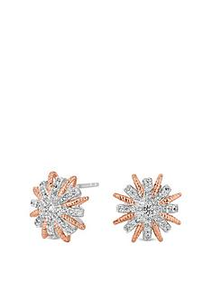 simply-silver-two-tone-starburst-stud-earrings