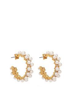 mood-gold-plated-pearl-encrusted-hoop-earrings