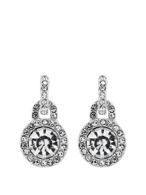 mood-silver-crystal-door-knocker-stud-earrings