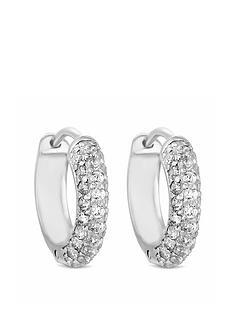 simply-silver-cubic-zirconia-10mm-hoop-earrings