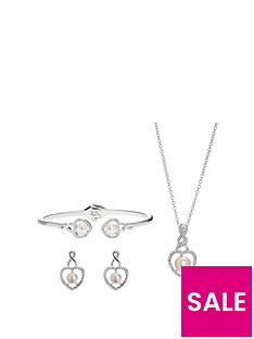 jon-richard-silver-plated-cream-pearl-crystal-infinty-heart-trio-jewellery-set