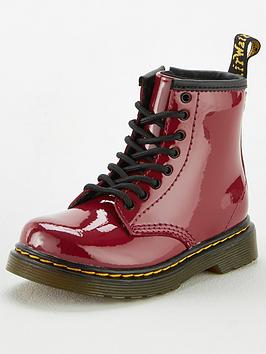 dr-martens-girls-1460-8-lace-up-leathernbspboots-red