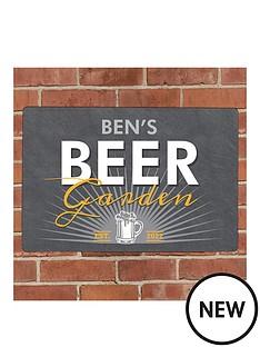 personalised-beer-garden-metal-plaque