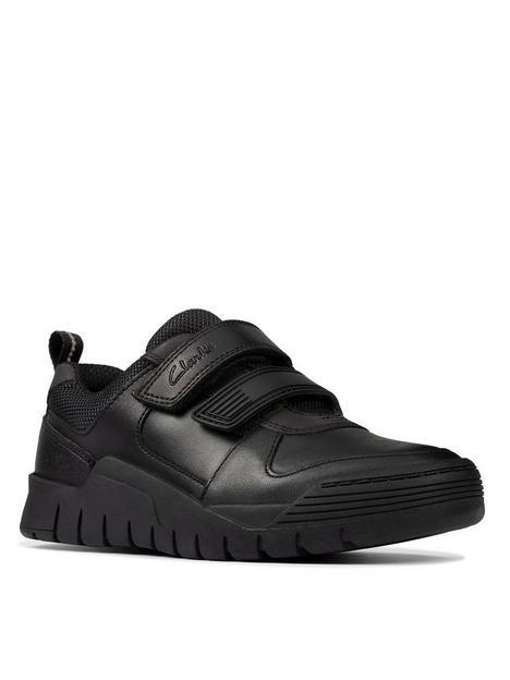 clarks-kidnbspscooter-speed-strap-school-shoe-black