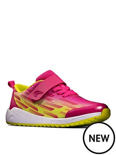 clarks-girls-aeon-pace-lace-trainer-pink-lime