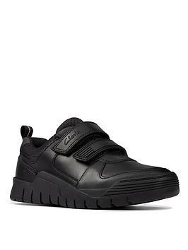 clarks-toddlernbspscooter-speed-strap-school-shoe-black
