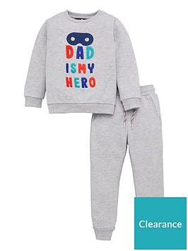 v-by-very-boys-daddy-is-my-hero-jog-set-grey-marl