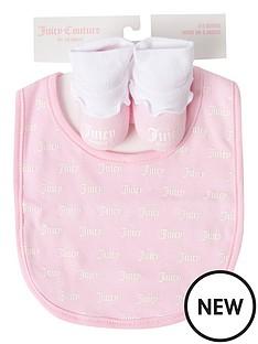 juicy-couture-baby-girls-bib-and-bootie-set