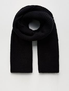 v-by-very-knitted-rib-scarf-black