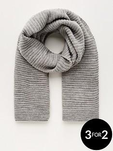 v-by-very-knitted-rib-scarf-grey