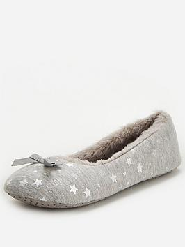 v-by-very-star-ballerina-slipper-grey-silver