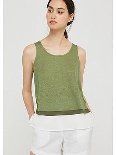 monsoon-elaine-woven-trim-sleeveless-top-khaki