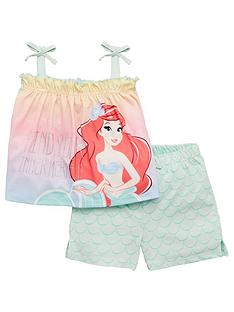 the-little-mermaid-girlsnbspariel-tie-cami-top-and-short-set-multi