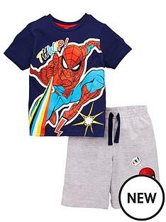 spiderman-boysnbsp2-piece-t-shirt-and-short-set-navy