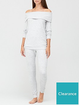 v-by-very-premium-off-the-shoulder-lounge-set-grey