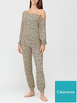 v-by-very-slouchy-off-shoulder-soft-touch-lounge-setnbsp--leopard