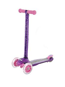 u-move-sequin-mini-flex-adjustable-tilt-scooter-with-led-wheels