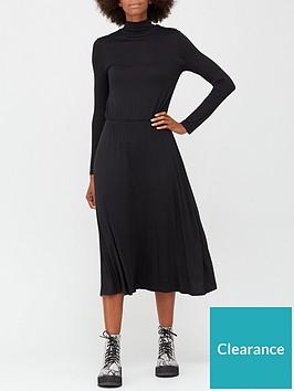 v-by-very-long-sleeve-high-neck-jerseynbspmidi-dress-black