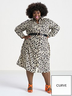 v-by-very-curve-printed-button-through-shirt-dress-animal