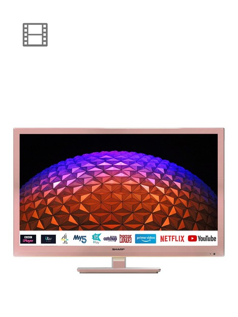 sharp-24bc0kr-24nbspinch-hd-ready-led-smart-tv-with-freeview-rose-gold