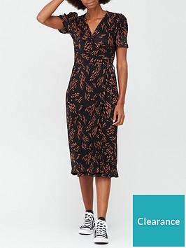 v-by-very-plisse-short-sleevenbspwrap-midi-dress-print