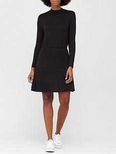 v-by-very-long-sleeve-high-neck-jerseynbspskater-dress-black