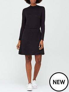 v-by-very-long-sleeve-high-neck-jerseynbspskater-dress-black