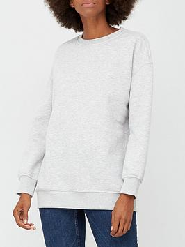 v-by-very-the-essential-long-line-crew-neck-sweat-grey-marl