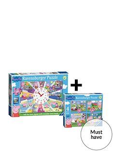 ravensburger-peppa-pig-jigsawnbsptwin-pack--nbsp4-in-a-box-amp-clock-puzzle
