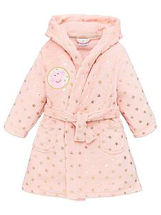 peppa-pig-girlsnbspstar-dressing-gown-pink