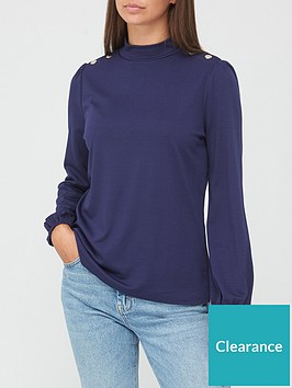 v-by-very-long-sleevenbspturtle-neck-button-detail-top-navy