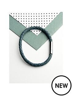 personalised-mens-capsule-tube-woven-bracelet-in-aegean-blue