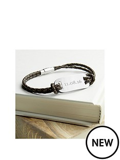 personalised-mens-statement-leather-bracelet-in-brown