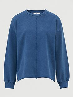v-by-very-washed-seam-detail-sweat-top-dark-blue