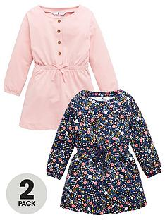 v-by-very-girls-2-pack-waisted-floral-dress-multi