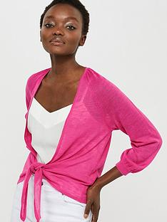 monsoon-libby-linen-blend-tie-shrug-pink