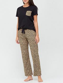 v-by-very-animal-pocket-jersey-pj-set-animal-print