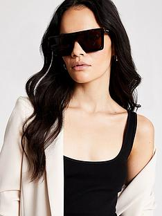 river-island-tort-visor-sunglasses-brown