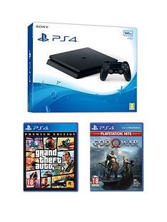 playstation-4-ps4nbspwith-grand-theftnbspauto-v-amp-god-of-war-andnbspoptional-extras-500gb-console