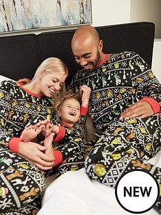 shrek-unisex-kids-shrek-shrekmas-christmas-fairislenbspfamily-pjs-multi
