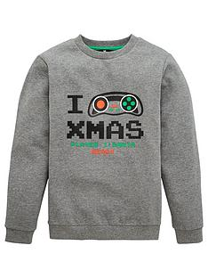 v-by-very-boys-christmas-gaming-sweat-charcoal