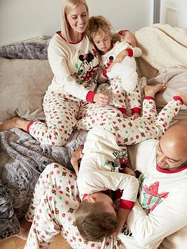 minnie-mouse-girls-minnie-mousenbspchristmas-family-pj-white