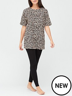 v-by-very-leopard-longline-t-shirt-and-legging-pyjamas-print