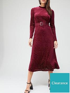 v-by-very-devore-belted-midi-dress-burgundynbsp