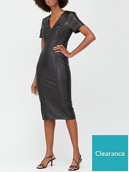 v-by-very-pu-zipnbsppencil-dress-black