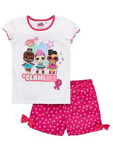 lol-surprise-girlsnbspglam-life-shorty-pyjamas-white