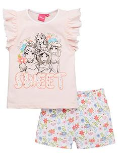 disney-princess-girlsnbspfrill-vest-shorty-pyjamas-pink
