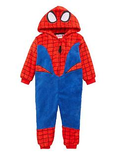spiderman-boysnbsphooded-all-in-one-red